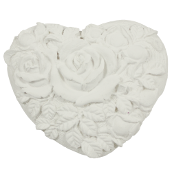 Cœur roses blanc brut à parfumer