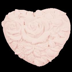 Cœur roses, rose tendre brut, à parfumer