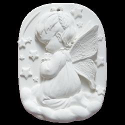 Médaillon de berceau fille blanc brut à parfumer