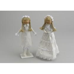"""Lot 2 poupées """"filles cérémonie"""""""