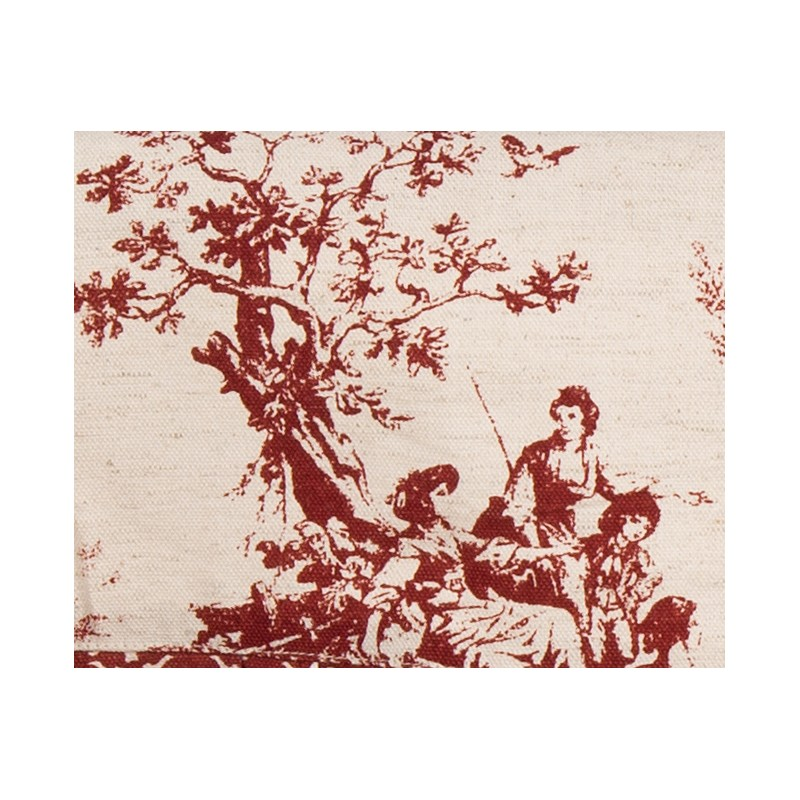 Table cloth marsala toile de jouy collection by blanc mariclo on - Toile de jouy decoration ...