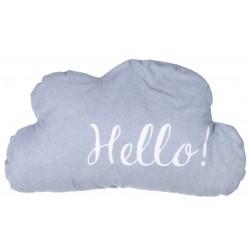 "Coussin nuage ""Hello"""