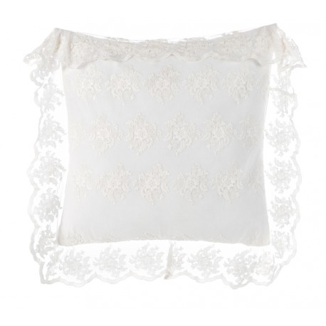 "Cushion with flanges 60 x 60 cm Off white ""Crema Collection"""