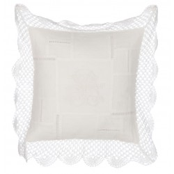 "Coussin brodé 45 x 45 cm ""Vintage Lace Collection"""