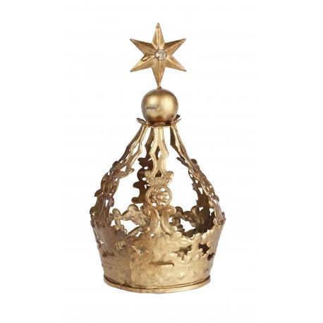 """Couronne dorée """"Verity"""" étoile"""