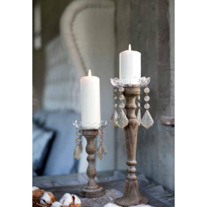 Grand porte bougie vintage collection par blanc mariclo for Decoration porte bougie