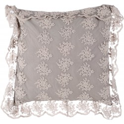 """Cushion with flanges 60 x 60 cm Off white """"Crema Collection"""""""